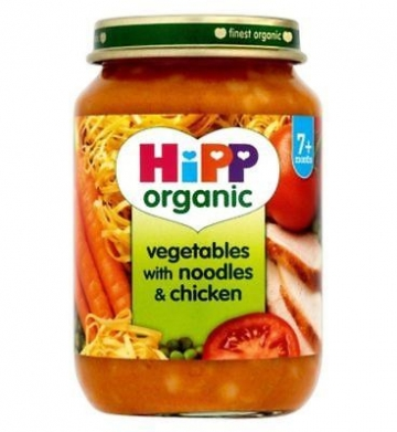 Hipp Organic Vegetables With Noodles & Chicken 7+ Months 190g (Pack of 2)