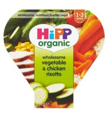 Hipp Organic Wholesome Vegetable & Chicken Risotto 1-3 Years 230g (Pack of 2)