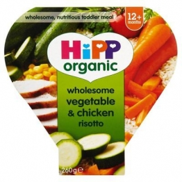 Hipp Organic Wholesome Vegetable & Chicken Risotto 12Mth+ (230g) (Pack of 6)