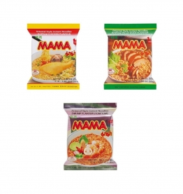 MAMA Mischpaket: ENTE - SHRIMP - HUHN 30 x Tütensuppe 1700g Suppe Nudelsuppe