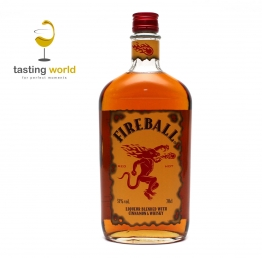 Red Hot FIREBALL - Whisky-Zimt-Likör - 33% - 0,7l - Made in Canada