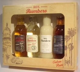 Ron Rumbero Rum Tasting Set Selection 4x 0,04l Miniaturen Prima Geschenk Box