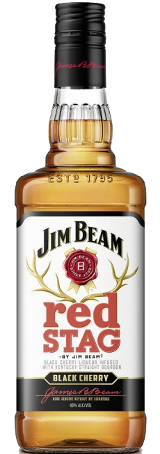 Jim Beam red STAG Whiskey with Black Cherry 0,7 ltr